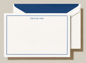 Crane Shaded Frame Thank You Card - Set of 10