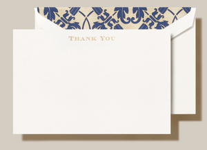 Crane Regency Thank You Cards - Set of 10