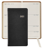 "Load image into Gallery viewer, 2021 6"" Goatskin Leather Pocket Datebook"