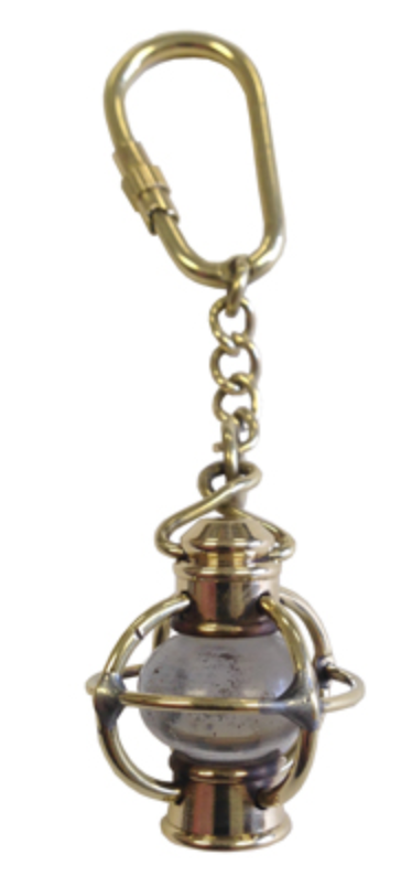 Antiqued Brass Keychain