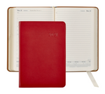 "Load image into Gallery viewer, 2021 Goatskin Leather Planner Journal (5-1/2"" x 8"")"