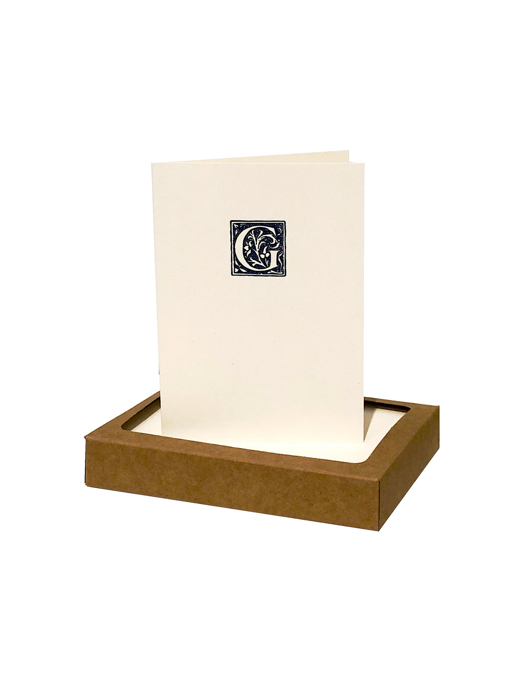 On Paper initial monogram seal folded note card