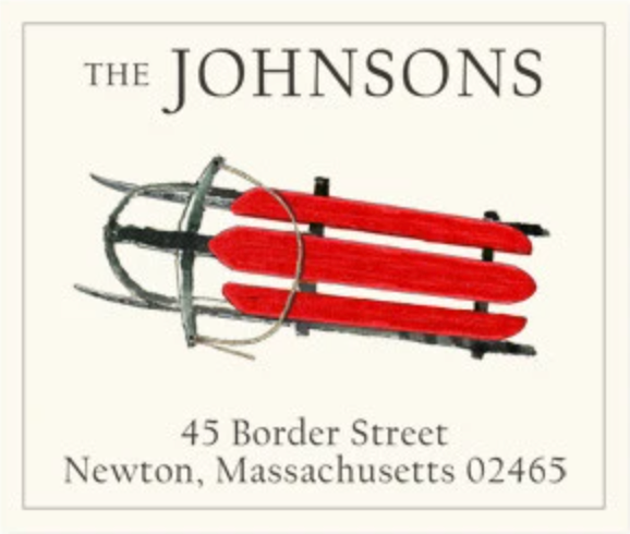 Return Address Labels - Holiday 2020