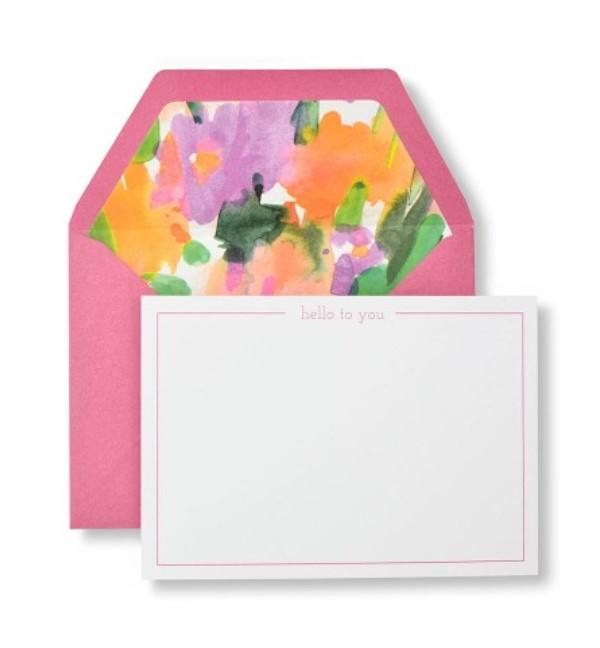 Spring Floral 'Hello To You' Note Cards