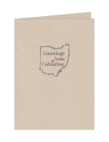Greetings from Columbus Note Cards