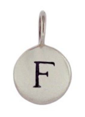 Sterling Silver Letter Charm Necklace