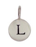 Load image into Gallery viewer, Sterling Silver Letter Charm Necklace