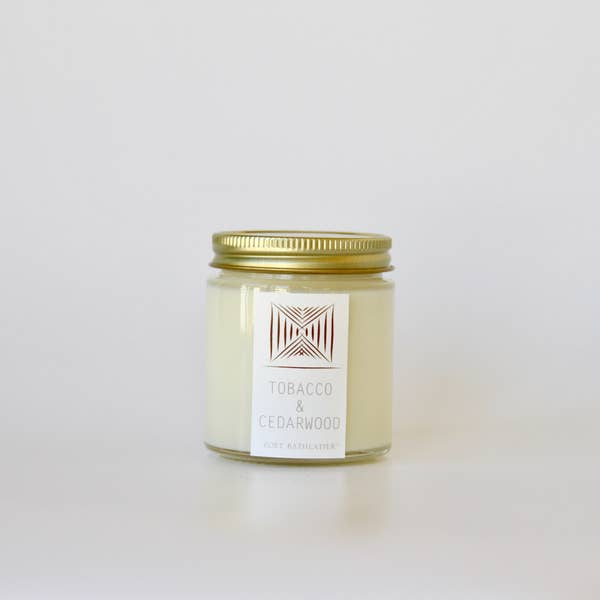 Tobacco & Cedarwood Rustic Candle