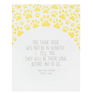 Dogs in Heaven Quote Pet Sympathy