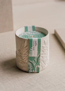 The Cottage Greenhouse Matcha Ceramic Candle