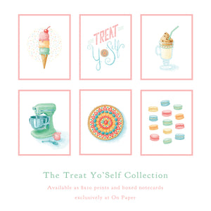 Treat Yo'Self Greeting Card Series by Madam Puddle Duck
