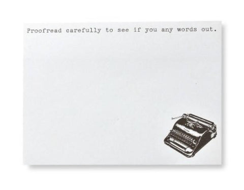 TYPEWRITER STICKY NOTES