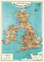 Vintage Style Map - British Isles