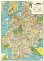 Vintage Style Map - Brooklyn