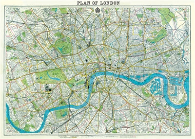 Vintage Style Maps - London