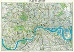 Load image into Gallery viewer, Plan of London Vintage Style Map