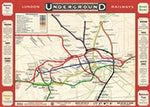 Load image into Gallery viewer, Vintage Style Map - London Underground