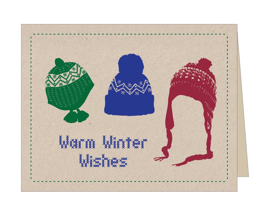 Warm Winter Wishes Holiday Card On Paper