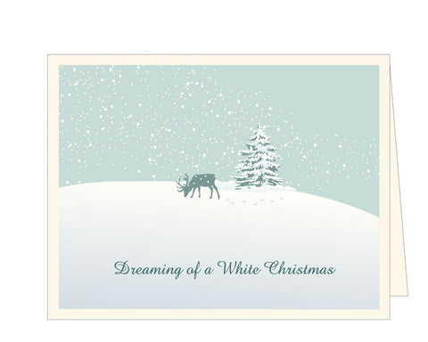 White Christmas Shimmer Holiday Card