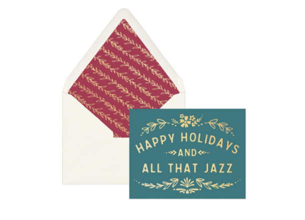 'Happy Holidays and All That Jazz' Boxed Holiday Card, set of 12