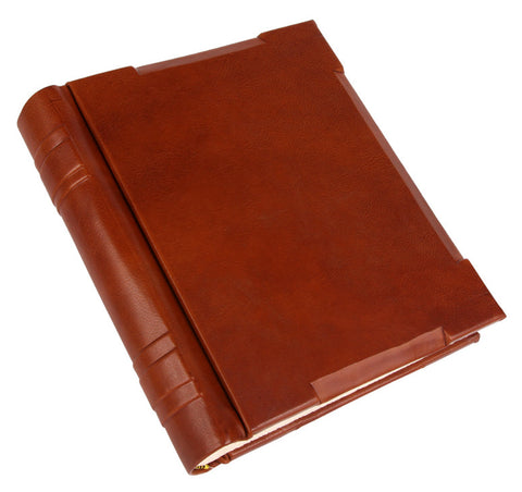 Beveled Leather Photo Album