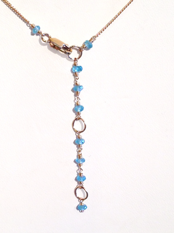 Gold Bezel Necklace