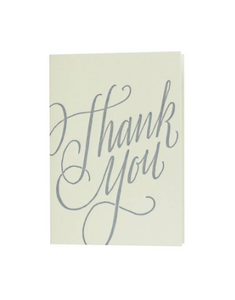 Thank You Note Set - Letterpress Calligraphy