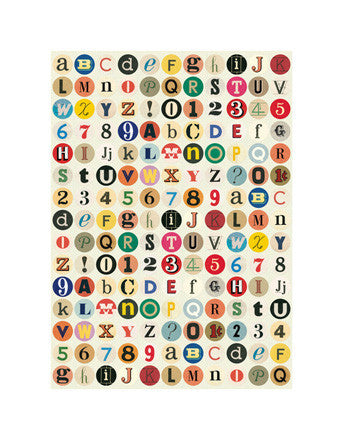 Decorative Paper - Typography Alphabet