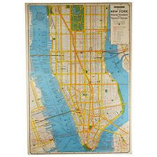 Vintage Style Map - New York City