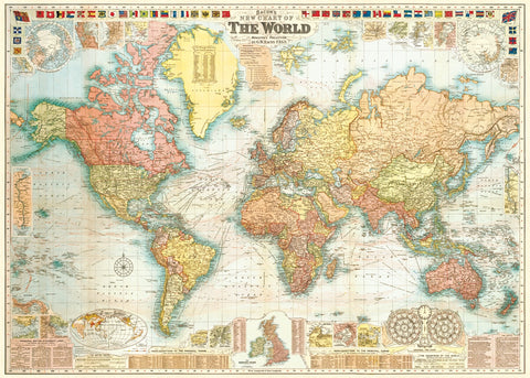 Vintage style maps on paper vintage style map world 5 gumiabroncs Gallery
