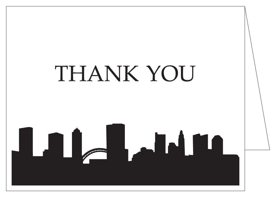 Columbus Skyline Thank You Cards