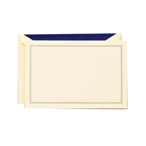 Crane Triple Border Correspondence Card