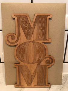 Keepsake Mom Sustainable Wood Card