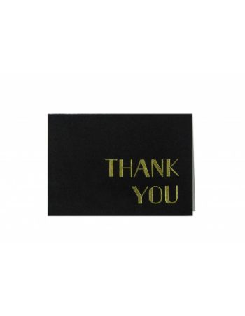 Art Deco Hot Foil Letterpress Thank You Note Set