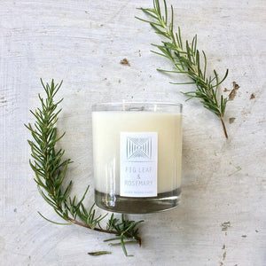 Fig Leaf & Rosemary Rustic Candle
