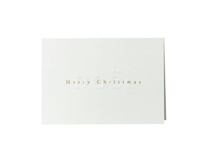 Noël - Merry Christmas Gilded Card, set of 6