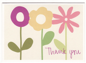 Flowers Thank You Folded Note Cards (Set of 8)
