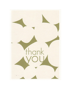 Green Pebble Thank You Cards - Set of 8