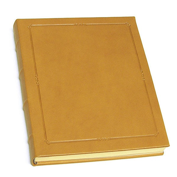 "11"" Hardcover Leather Journal, Traditional Leather"