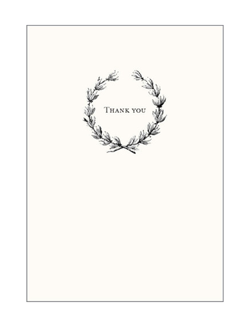 Laurel Wreath Thank You Notes