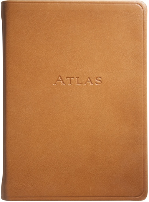 british tan small leather atlas