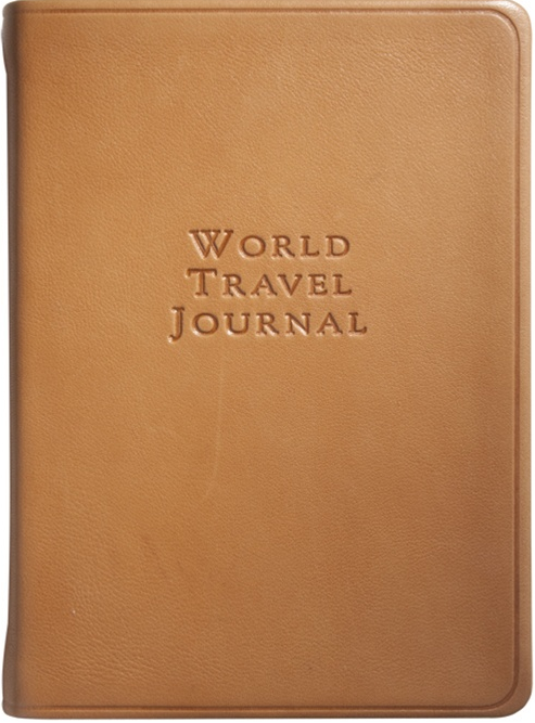 small leather travel journal british tan