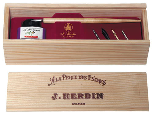 J. Herbin Wood Box Calligraphy Set