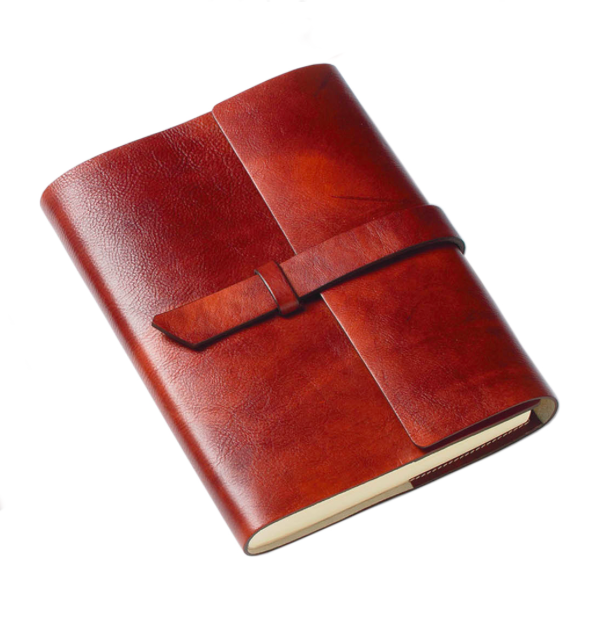 Francescano refillable leather journal tab closure