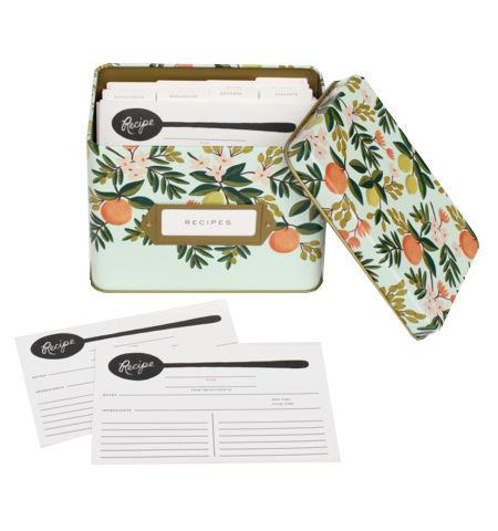 Rifle Paper Co citrus floral recipe box