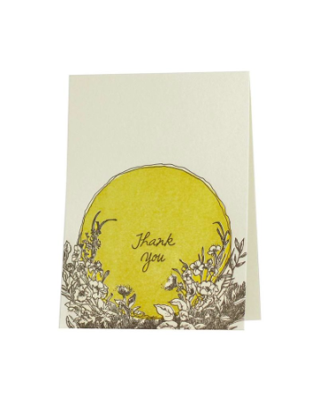 Letterpress Sunshine Thank You Note Set