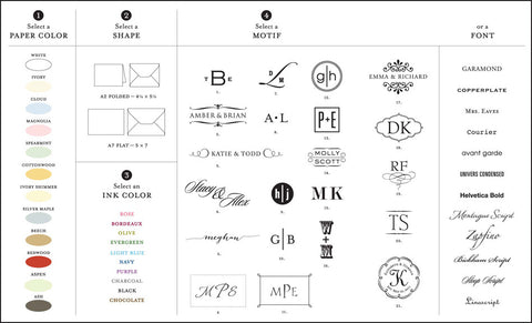 On Paper Press Monogram Notes