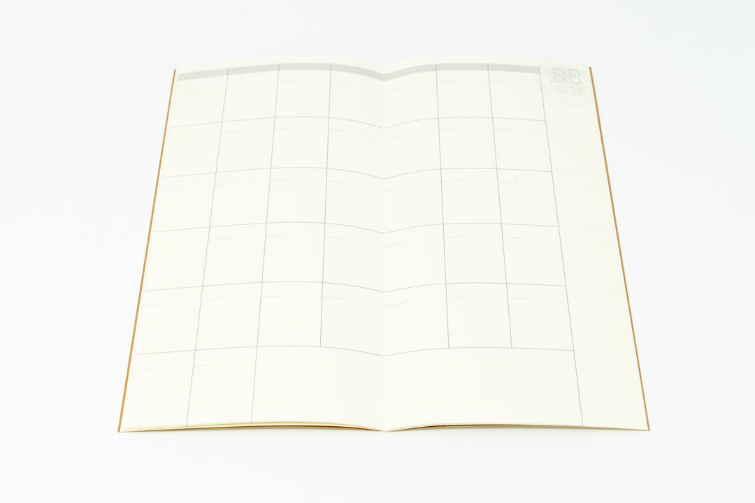 Traveler's Notebook Refill #017: Free Diary Monthly, Regular Size