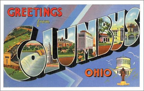 Vintage Ohio Assorted Post Card Set