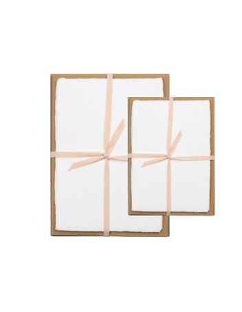 Oblation White Deckle Edge Stationery